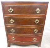 Georgian Style Mahogany Bowfront Chest of Drawers